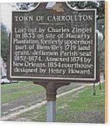 La-007 Town Of Carrollton Wood Print
