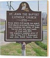 La-024 St John The Baptist Catholic Church 1770 Wood Print