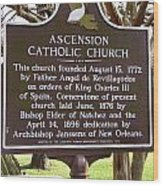 La-031 Ascension Catholic Church Wood Print