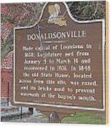 La-032 Donaldsonville Wood Print