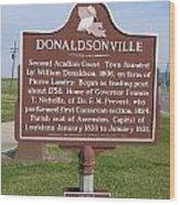 La-033 Donaldsonville Wood Print