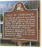 La-036 Ville De Thibodaux Wood Print