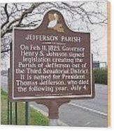 La-040 Jefferson Parish Wood Print