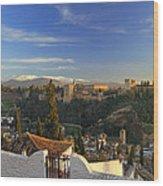 La Alhambra Granada Spain Wood Print