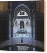 La Alhambra Patio De Los Leones Wood Print