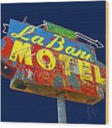La Bank Motel Wood Print