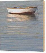 La Barque Au Crepuscule Wood Print
