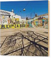 La Boca Graffiti Wood Print