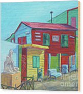 La Boca Morning I Wood Print