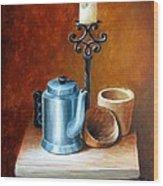 La Cafetera Wood Print by Edgar Torres