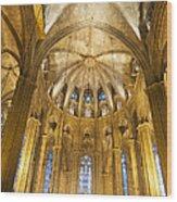 La Catedral Barcelona Cathedral Wood Print