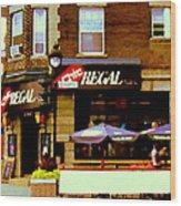 La Chic Regal Taverne Au Coin Rue Centre Et Charlevoix Pointe St Charles Scene De Rue Carole Spandau Wood Print