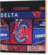 La Clippers Turkish Heritage Wood Print by RJ Aguilar