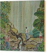 La Coco Falls El Yunque Rain Forest Puerto Rico Wood Print