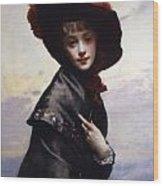 La Coquette Wood Print by Gustave Jean Jacquet