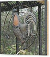 La Decoration Sur La Cage De Poulet Wood Print