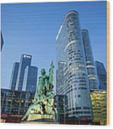 La Defense Memorial Wood Print