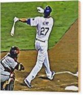 La Dodgers Matt Kemp Wood Print