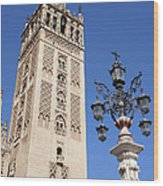 La Giralda Cathedral Tower In Seville Wood Print