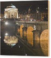 La Gran Madre E Ponte Umberto I Wood Print