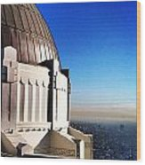 La Griffith Observatory Afternoon Wood Print