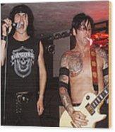 L.a. Guns Live In Lawrence 2002 I Wood Print