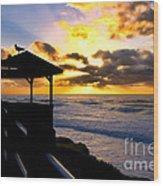 La Jolla At Sunset By Diana Sainz Wood Print by Diana Sainz