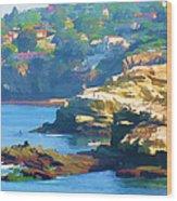 La Jolla California Cove And Caves Wood Print