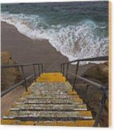 La Jolla Stairs 2 Wood Print