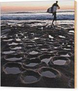La Jolla Surf Session Part 2 Wood Print