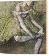 La Jupe Verte Wood Print by Edgar Degas