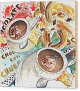 La Laguna Churros Y Chocolate Wood Print