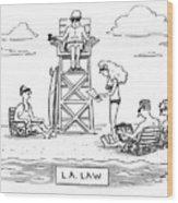 L.a. Law Wood Print