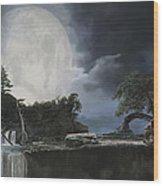 La Luna Bianca Wood Print