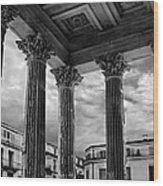 La Maison Caree.nimes.france Wood Print