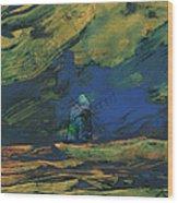 La Mancha De Noche Wood Print