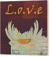 La Marguerite - Love Red Wine  Wood Print