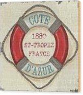 La Mer Cote D'azur Wood Print