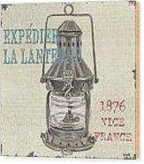La Mer Lanterne Wood Print