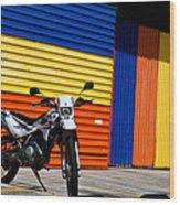 La Motocicleta Wood Print