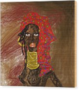 La Mujer De Africa  Wood Print