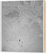 La Paz  Street Map - La Paz Bolivia Road Map Art On Colored Back Wood Print