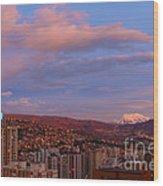 La Paz Twilight Wood Print by James Brunker