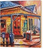 La Peniche In New Orleans Wood Print