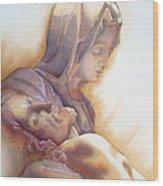 La Pieta By Michelangelo Wood Print