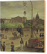 La Place De La Concorde Wood Print