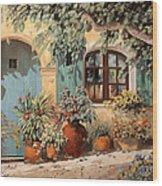 La Porta Azzurra Wood Print