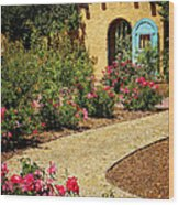 La Posada Gardens In Winslow Arizona Wood Print