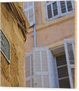 La Provence Windows Wood Print