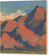 La Quinta Mountains Morning Wood Print